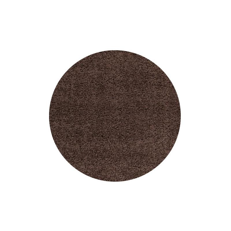 Kusový koberec Life Shaggy 1500 brown kruh
