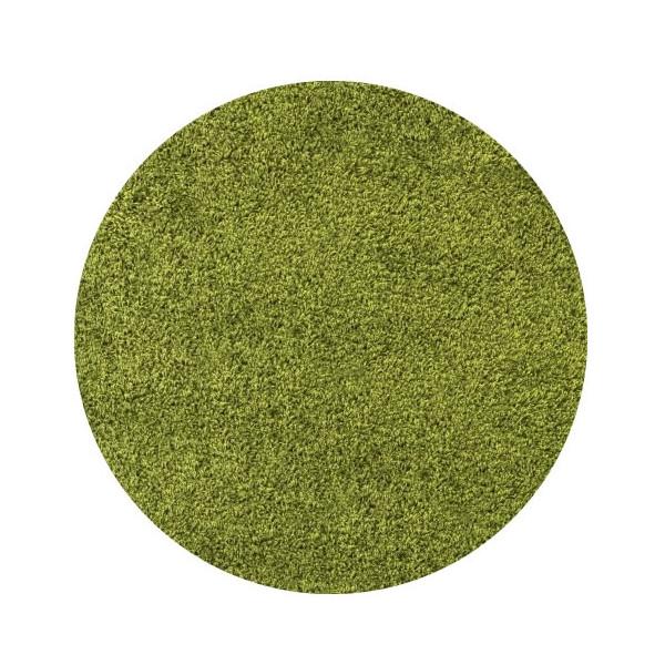 Ayyildiz koberce Kusový koberec Life Shaggy 1500 green kruh, kusových koberců 200x200 cm kruh% Zelená - Vrácení do 1 roku ZDARMA vč. dopravy + možnost zaslání vzorku zdarma