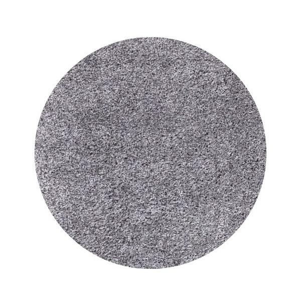 Kusový koberec Life Shaggy 1500 light grey kruh