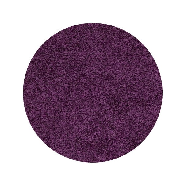 Ayyildiz koberce Kusový koberec Life Shaggy 1500 lila kruh, kusových koberců 200x200 cm kruh% Fialová - Vrácení do 1 roku ZDARMA vč. dopravy + možnost zaslání vzorku zdarma