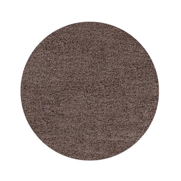 Ayyildiz koberce Kusový koberec Life Shaggy 1500 mocca kruh, kusových koberců 200x200 cm kruh% Hnědá - Vrácení do 1 roku ZDARMA vč. dopravy + možnost zaslání vzorku zdarma