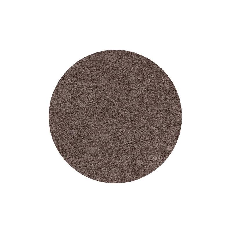 Kusový koberec Life Shaggy 1500 mocca kruh