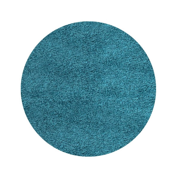 Ayyildiz koberce Kusový koberec Life Shaggy 1500 tyrkys kruh, kusových koberců 80x80 cm kruh% Modrá - Vrácení do 1 roku ZDARMA vč. dopravy + možnost zaslání vzorku zdarma