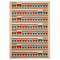 Kusový koberec Bambini 103060 Eisenbahn 140x200 cm