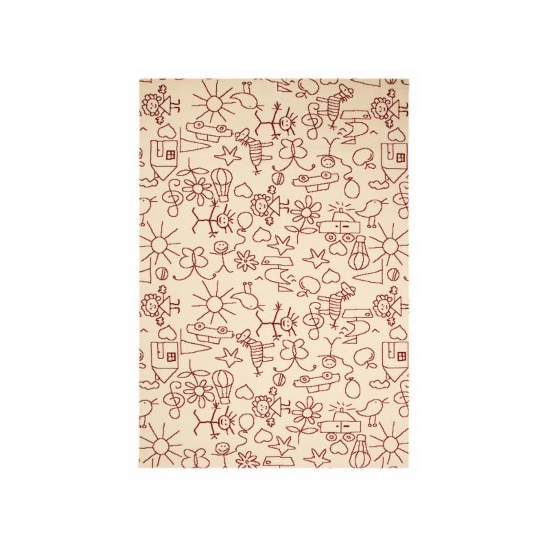 Kusový koberec Bambini 103063 Strichmännchen 140x200 cm
