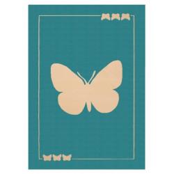 Kusový koberec Bambini 103064 Schmetterling 140x200 cm