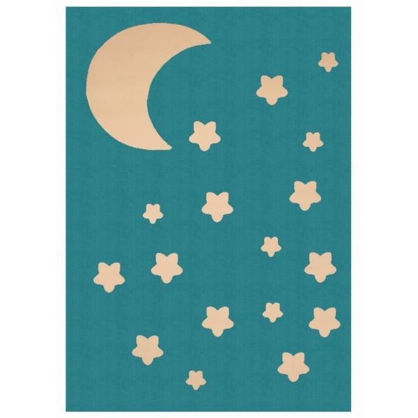 Kusový koberec Bambini 103068 Blau 140x200 cm