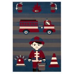 Kusový koberec Bambini 103072 Feuerwehrmann 140x200 cm