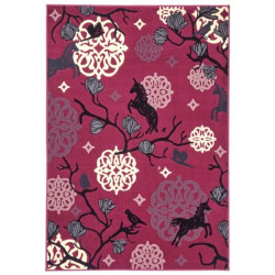 Kusový koberec Bambini 102794 Einhorn 140x200 cm