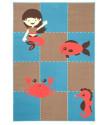Kusový koberec Bambini 102792 Meeresbewohner 140x200 cm