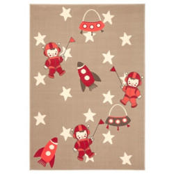 Kusový koberec Bambini 102791 Beige Rot 140x200 cm