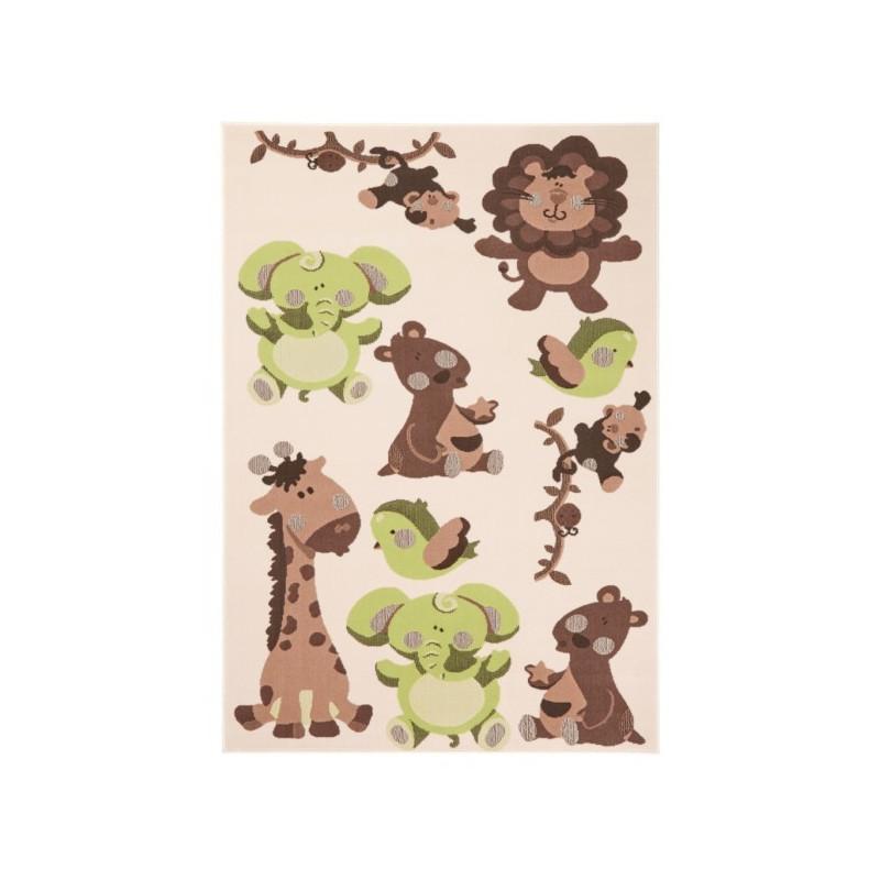 Kusový koberec Bambini 102788 Grün Braun 140x200 cm