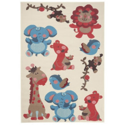 Kusový koberec Bambini 102787 Blau Rot 140x200 cm