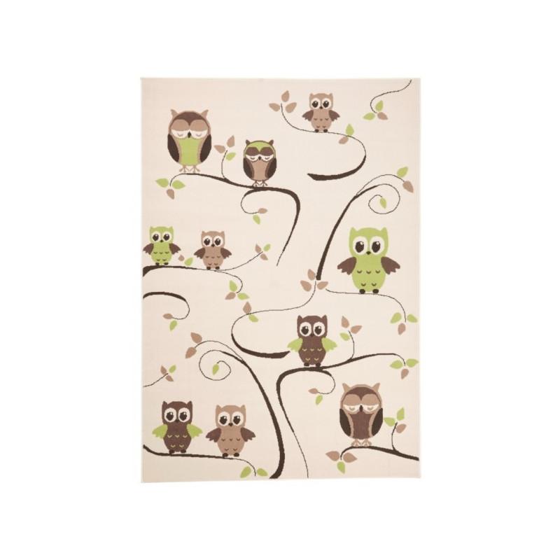 Dětský kusový koberec Bambini 102785 Beige Grün 140x200 cm