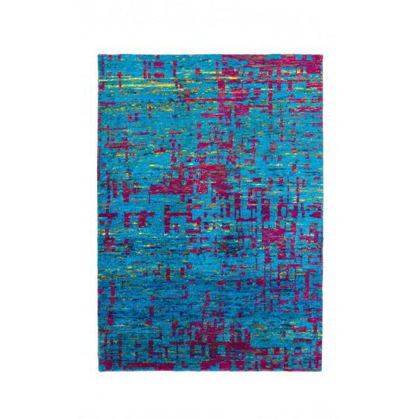 Obsession koberce Ručně tkaný kusový koberec SAREE DE LUX 820 LAPIS, kusových koberců 120x170 cm% Modrá - Vrácení do 1 roku ZDARMA vč. dopravy