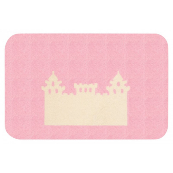 Protiskluzový kusový koberec Niños 103077 Rosa 67x120 cm