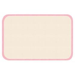 Protiskluzový kusový koberec Niños 103086 Rosa-Creme 67x120 cm