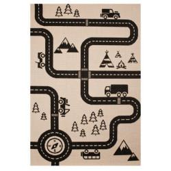 Kusový koberec Vini 103024 Road Map Charly 120x170 cm
