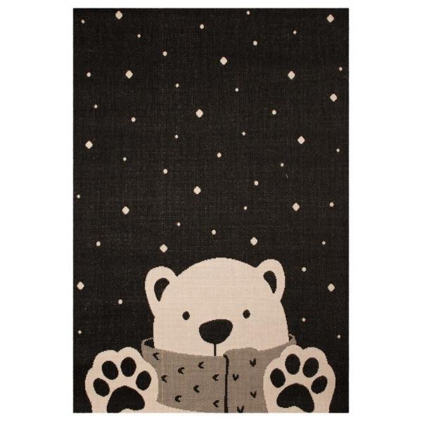 Zala Living - Hanse Home koberce Kusový koberec Vini 103023 Icebear Stan 120x170 cm cm, koberců 120x170 cm Černá - Vrácení do 1 roku ZDARMA