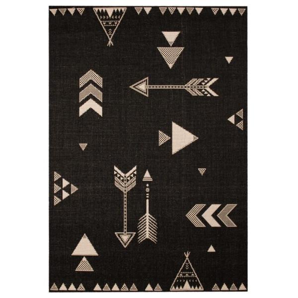 Zala Living - Hanse Home koberce Kusový koberec Vini 103021 Arrows Barney 120x170 cm cm, koberců 120x170 cm Černá - Vrácení do 1 roku ZDARMA