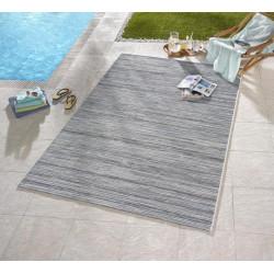 Venkovní kusový koberec Lotus Hellgrau Blau Meliert 102445