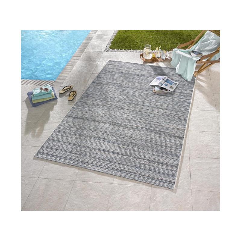 Venkovní kusový koberec Lotus 102445 Hellgrau Blau Meliert