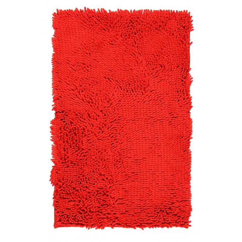 Protiskluzová koupelnová předložka RASTA MICRO červená