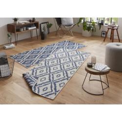 Kusový koberec Twin-Wendeteppiche 103137 blau creme