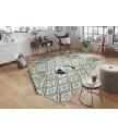 Kusový koberec Twin-Wendeteppiche 103136 grün creme