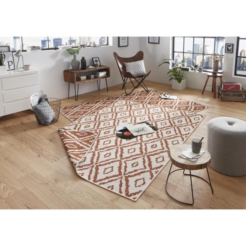 Kusový koberec Twin-Wendeteppiche 103135 terra creme