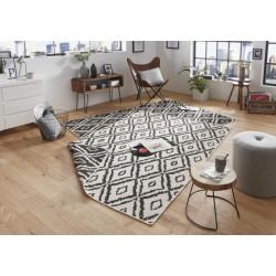 Kusový koberec Twin-Wendeteppiche 103134 schwarz creme