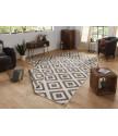 Kusový koberec Twin-Wendeteppiche 103133 braun creme
