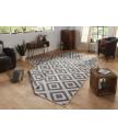Kusový koberec Twin-Wendeteppiche 103132 grau creme