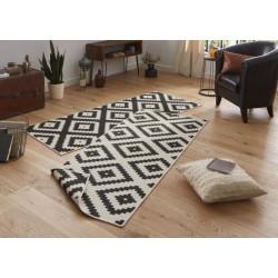Kusový koberec Twin-Wendeteppiche 103129 schwarz creme