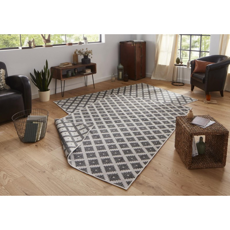 Kusový koberec Twin-Wendeteppiche 103126 grau creme