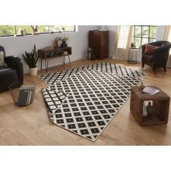 Kusový koberec Twin-Wendeteppiche 103124 schwarz creme