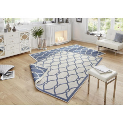 Kusový koberec Twin-Wendeteppiche 103123 blau creme