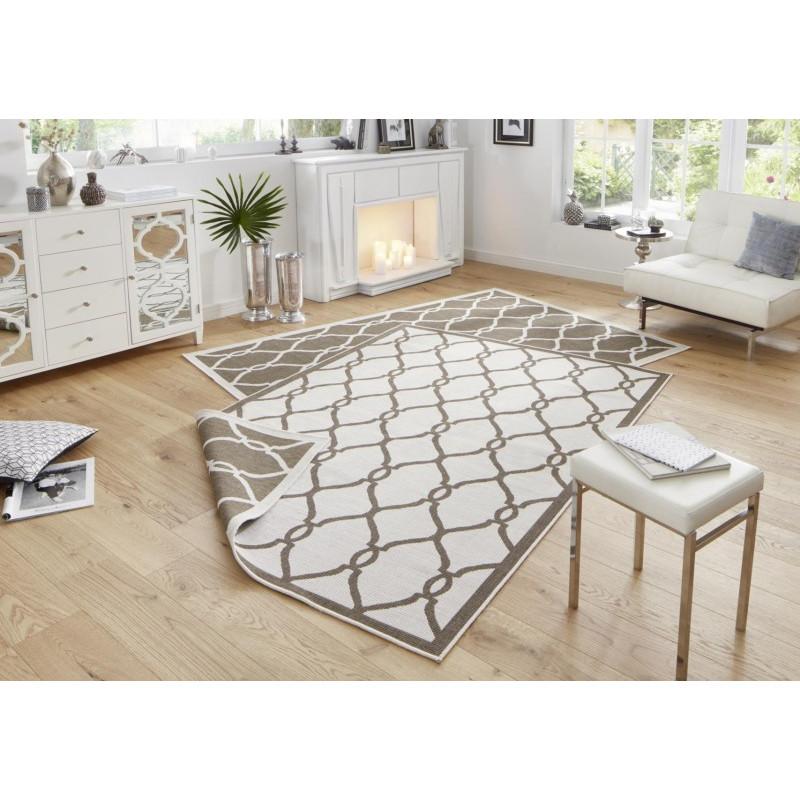Kusový koberec Twin-Wendeteppiche 103122 braun creme
