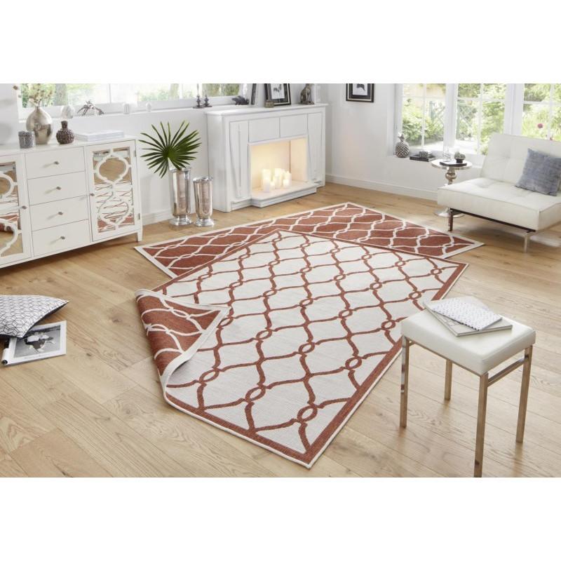 Kusový koberec Twin-Wendeteppiche 103120 terra creme
