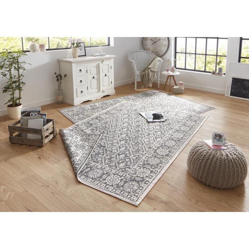 Kusový koberec Twin-Wendeteppiche 103116 grau creme