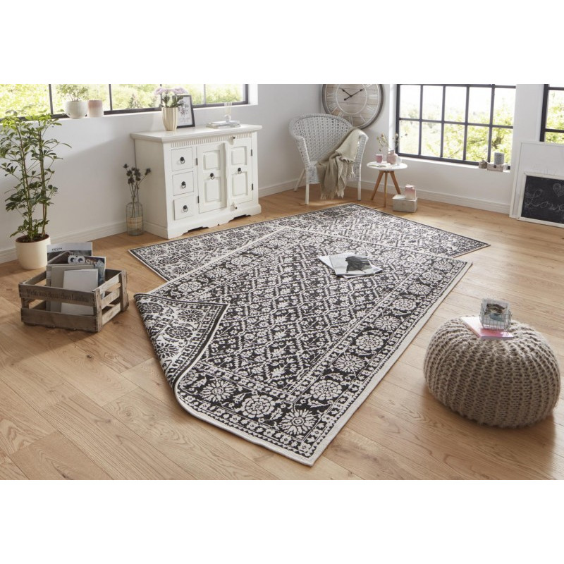 Kusový koberec Twin-Wendeteppiche 103113 schwarz creme