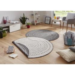 Kusový koberec Twin-Wendeteppiche 103112 grau creme