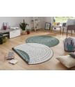 Kusový koberec Twin-Wendeteppiche 103111 grün creme
