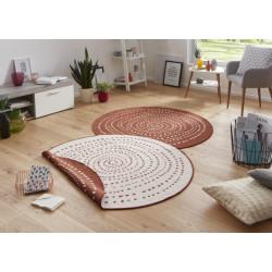 Kusový koberec Twin-Wendeteppiche 103110 terra creme