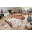 Kusový koberec Twin-Wendeteppiche 103110 terra creme kruh