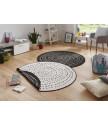 Kusový koberec Twin-Wendeteppiche 103109 schwarz creme