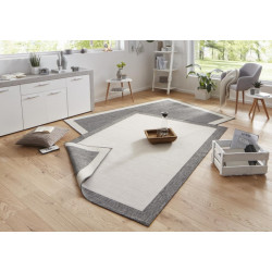 Kusový koberec Twin-Wendeteppiche 103108 creme grau