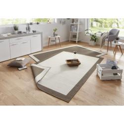 Kusový koberec Twin-Wendeteppiche 103107 creme braun