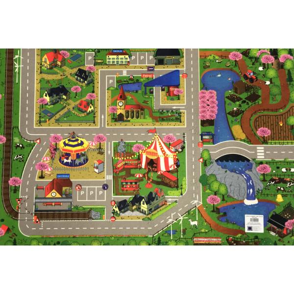 Dětský koberec Silnice Jaro 80x120 cm cm, koberců 80x120 cm Sleva 20% - Vrácení do 1 roku ZDARMA