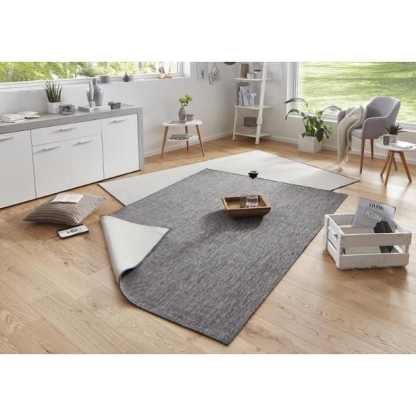 Kusový koberec Twin-Wendeteppiche 103097 grau creme